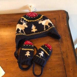Ralph Lauren Baby winter hat and gloves